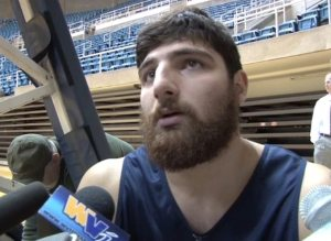 In the most fitting recruiting of all time, Deniz Kilicli looks almost exactly like the dude who dresses as a mountaineer for WVU.
