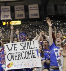 Hashtage Rock Chalk for Life in-fucking-deed.