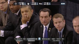 It's a tough world we live in where the all mighty fistagon can't jam it's way down the throats of these David's en route to a Final Four. Enjoy answering for the last three years for a decade, Coach K.