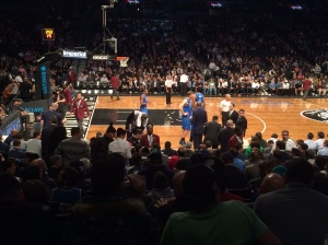 That's the view from my seat at the Mavs game. I was so close I could count Dirk Nowitzki's fucking teeth.