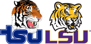 Seriously! Look at that shit! If Knutford University was upset about our Trajan logo, I'm pretty sure LSU should be like double pissed about this business.